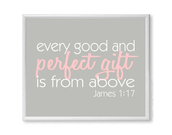gift is from above bible verse wall art 11x14 baby shower sign