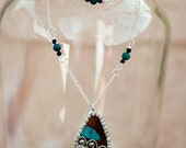Thetis- Shapeshifter Goddess of the Sea- Real Butterfly Wing Necklace