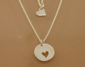 For Jpogreba Mother Daughter heart necklaces