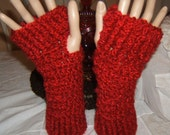 Adorable Warm and Soft Crochet Ribbed  Wristlets