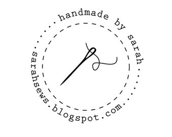 circle needle rubber stamp