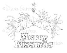 Merry Kissmas Digi Digital Stamp