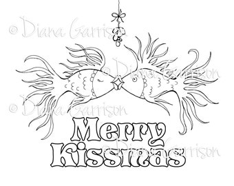 Merry Kissmas Digi Digital Stamp