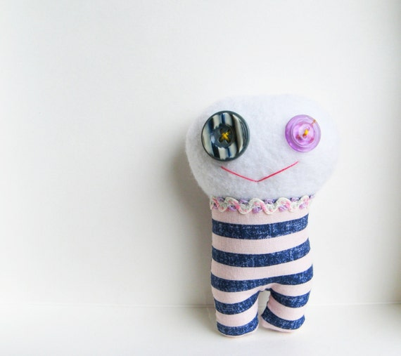 Little Monster - Stuffed Animal - Kids Toy - Plushie Monster - Monster Lovie - Monster Doll - Monster Plush - Monster Softie - Pink Blue