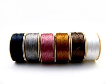 NYMO Beading THREAD 6 bobbins size D for Seed Beads MIX Lot Bead Weaving, Stringing Beading Jewelry Making