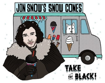 Jon Snow's Snow Cones