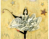 5 Postcard Set - The Star Girl Follows her Dreams