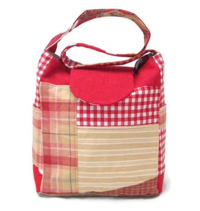 Patchwork Knitting Bag Pattern : Patchwork bag Knitting Bag Lots of Pockets crochet