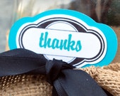 thanks......set of 12... bracket  tag, turquoise, green, black and gray.