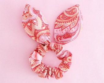 Dolly Bow Scrunchie-Vintage Style Red or Green
