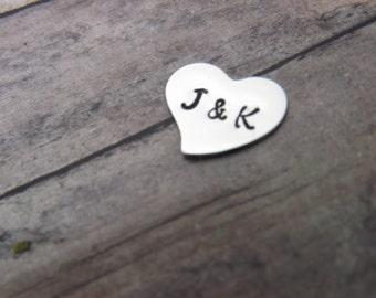 glass locket charm-sterling silver- heart-add on