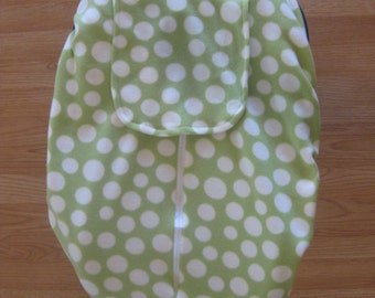 Celery dotted fleece infant car seat cover