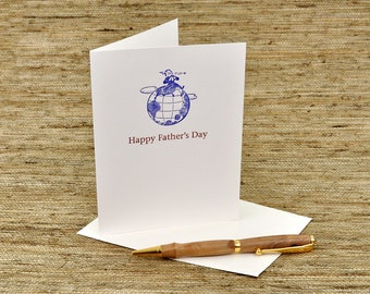 Happy Father's Day - letterpress card