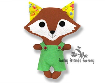 Kawaii  Fox Easy Animal Doll Sewing Pattern PDF INSTANT DOWNLOAD