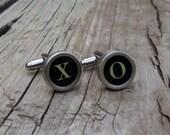XO Vintage Typewriter Key Cuff Links