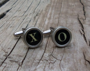 XO Vintage Typewriter Key Cuff Links