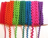Rick Rack Rainbow, Variety of colors, 4 yards of each, 28 yards total