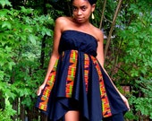 C L E A R A N C E Kente Handkerchief Dress, S/M/L
