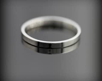 Palladium - 2mm wide wedding band