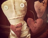 Primitive Valentine's Day Crock Stump Doll