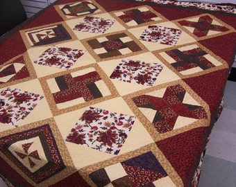 Imperial Treasure King Bed Quilt, Hand Quilted