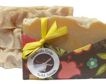 Clearance Soap - Jasmine Handmade Olive Oil Soap - Vegan Soap - Cruelty Free - Phthalate Free - Floral Scent