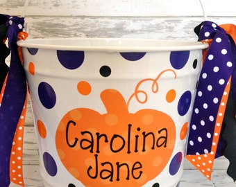 Personalized 10 Quart Custom Halloween Bucket - More Designs Available