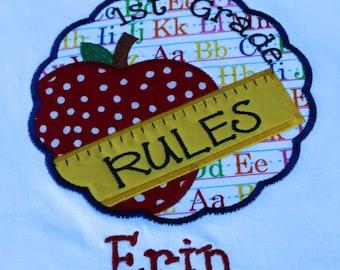 Boy Girl Custom Personalized Pre School Pre K Kindergarten 1st 2nd 3rd 4th 5th Grade Back To School Rocks T shirt
