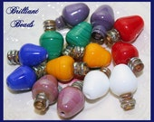 Opaque Christmas Bulb Lampwork Bead Pair - Handmade Lampwork SRA, Made To Order