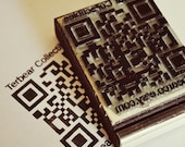 Custom Made QR code Rubber Stamp for your smart phone bar code scanner