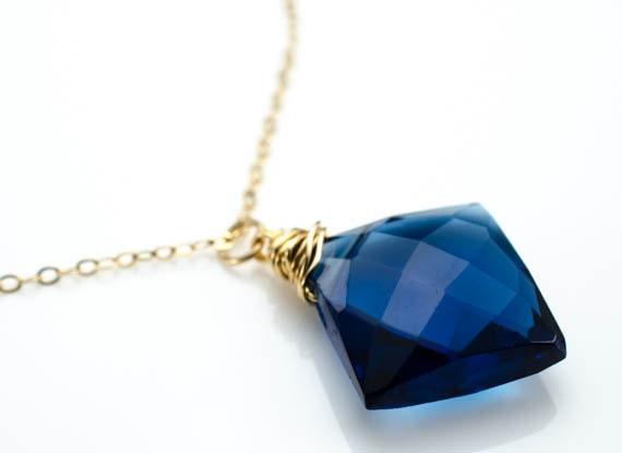 Kyanite Blue Quartz Gold Lalia Necklace