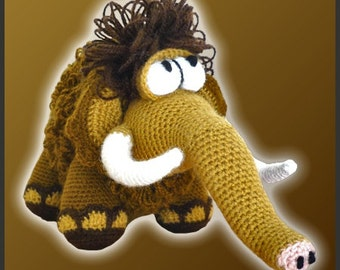 Amigurumi Pattern Crochet Moe Mammoth DIY Instant Digital Download PDF