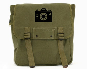 Backpack, Camera Bag, Canvas Backpack, Iconic Camera, Rucksack, Carry On Luggage, Hiking Pack, Men's Backpack, Military, Gift for Men