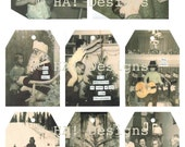FUN Vintage Photo Christmas Tags - Set of 8 - Download and Print