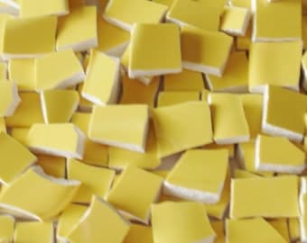 Mosaic Tiles Pieces - 100 - Sunny Side up - Yellow - Mosaic Tiles Tesserae by judysnow