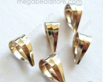 20 pcs 6mm Gold Filled Bail- Small pendant holder F437GF