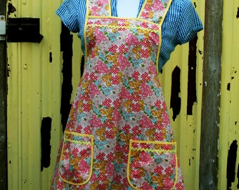 Instant Download Vintage Betty a Vintage Feedsack Style Kitchen Apron Pattern PDF Easy to Sew