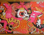 Ween UNCUT Rare Silk Screen Psychedelic Stallion Boognish Mushroom Party Southern California Poster - Etsy
