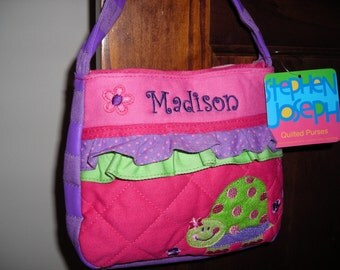 Personalized Stephen Joseph Quilted Purse Turtle by Never Felt Better