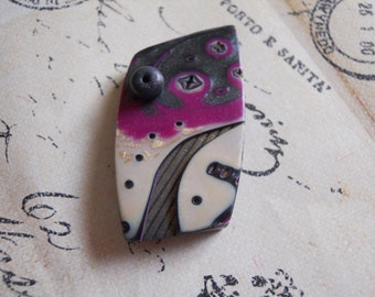 Polymer Clay Focal Pendant by TLS Clay Design