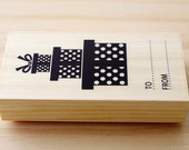 Rubber stamp - Three gift box stamps