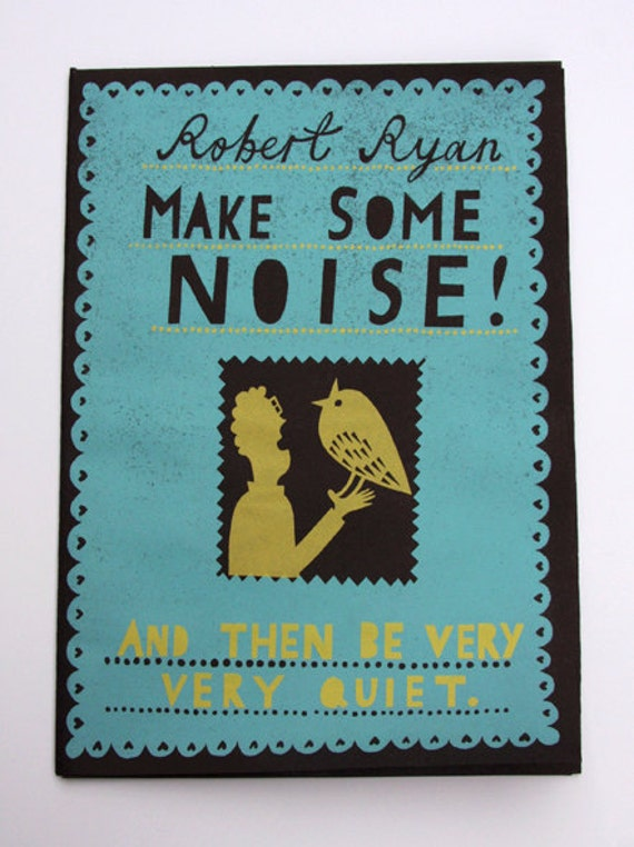 Make Some Noise - Screen Printed Zine
