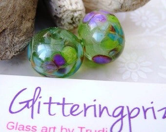 Lampwork Beads Enchanted Garden Pair