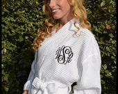 Monogrammed Robe - personalized robes, initials robes, bridesmaid gifts, monogram wedding robes embroidered monogram brides robe