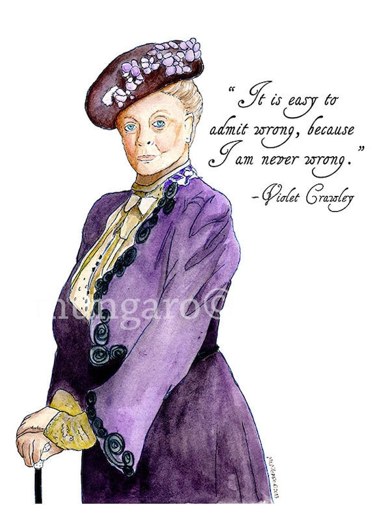 Watch 8 Of The Best Violet Crawley Quotes video