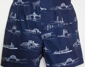 PORTLAND OREGON BRIDGES cotton boxers