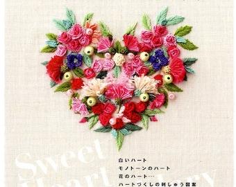 Ayako Otsuka's Sweet Heart Embroidery - Japanese Craft Book MM
