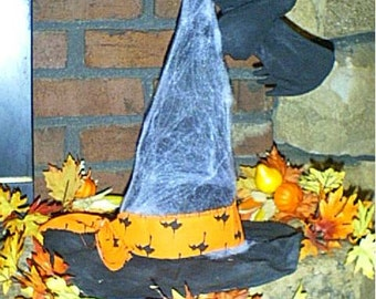 Primitive Olde Witches Hat and Bat E-Pattern