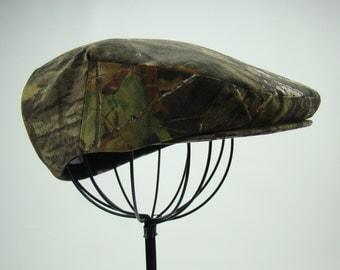 Mossy Oak Camouflage Flat Jeff Cap, Ivy Cap, Driving Cap
