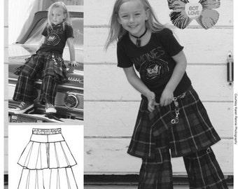 Studio Tantrum CARDIFF Euro German Sewing Pattern skirt, shorts or pants-skirt  Girls Sz 1/12 SALE